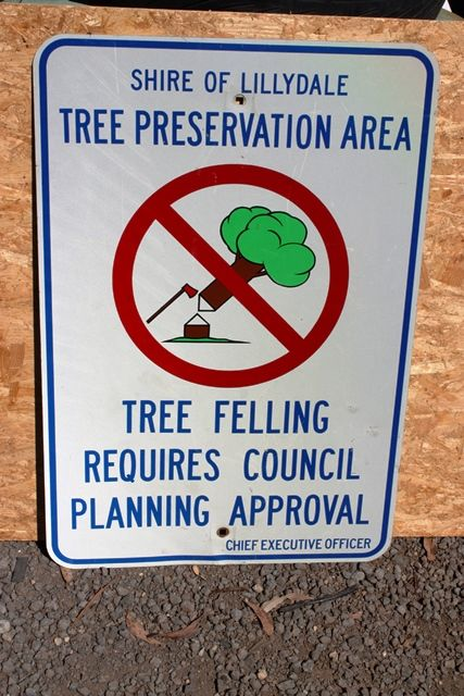 Shire Of Lillydale Tree Presevation Tin Sign