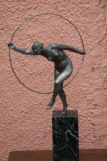 Silvered Bronze Hoop Dancer by De Fiesol