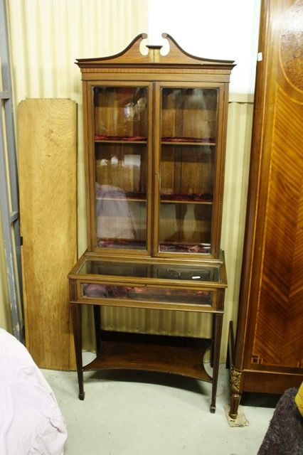 Small Inlaid Collectors Cabinet