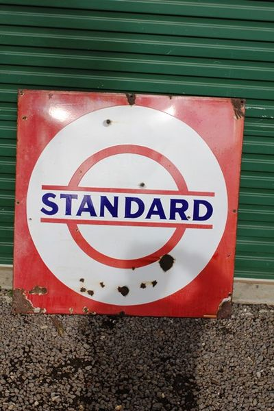 Standard  Enamel Sign
