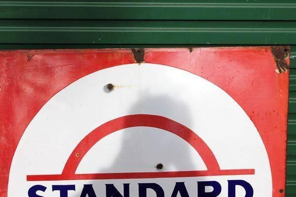 Standard  Enamel Sign