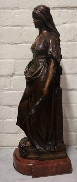 Stunning Antique Female Bronze Signed Marioton