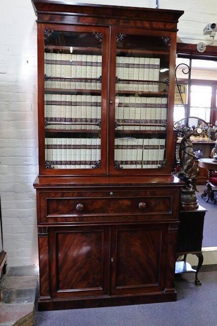 Stunning Antique Mahogany Secratier Bookcase