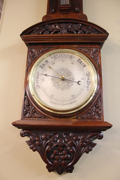 Stunning Quality Late 19th Century English Walnut Barometer