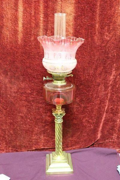 Stunning Victorian All Original Oil Lamp C1890