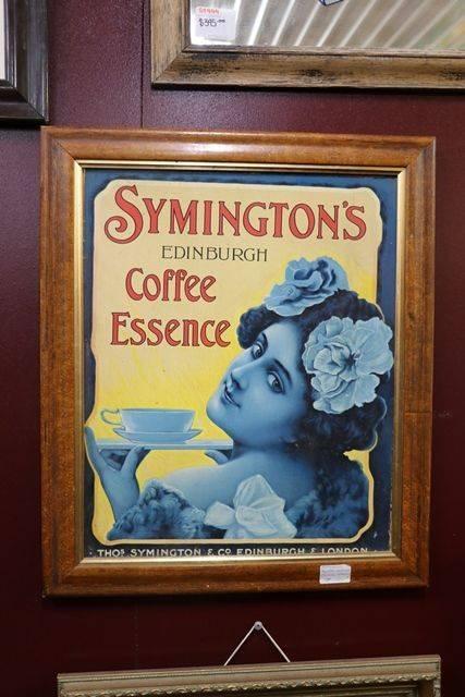 Symingtonand39s Coffee Framed Advertising Card