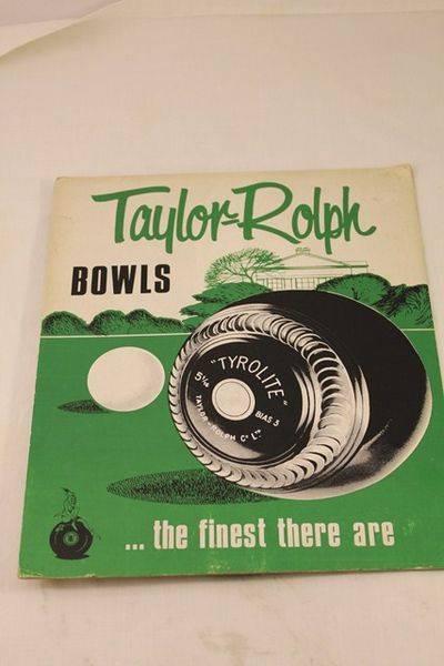Taylor Ralph Bowls Ad Card