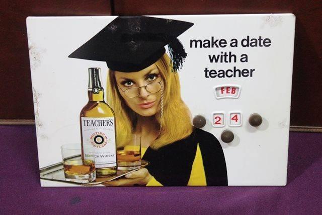 Teachers Scotch Whisky Pictorial Tin Calendar