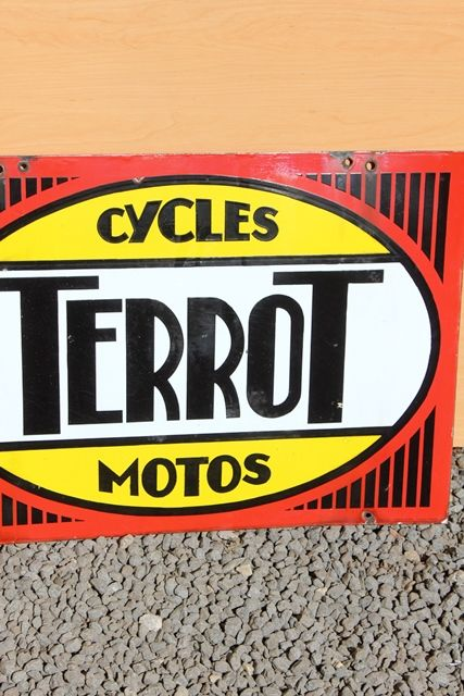 Terrot Cycles and Motors Double Sided Enamel Sign