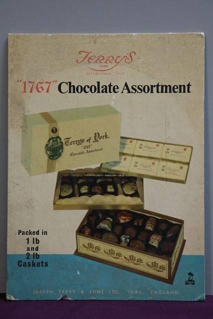 Terryand39s Of York 1767 Chocolate Assortment Card Advertising