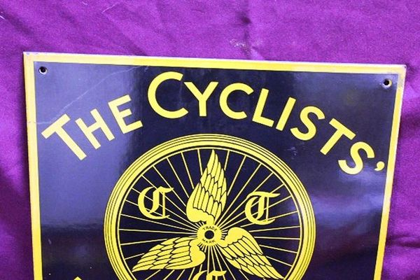 The Cyclists Touring Club Enamel Sign