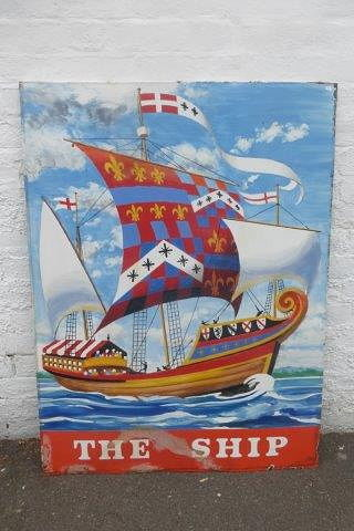 The Ship Pictorial Pub Advertising Sign