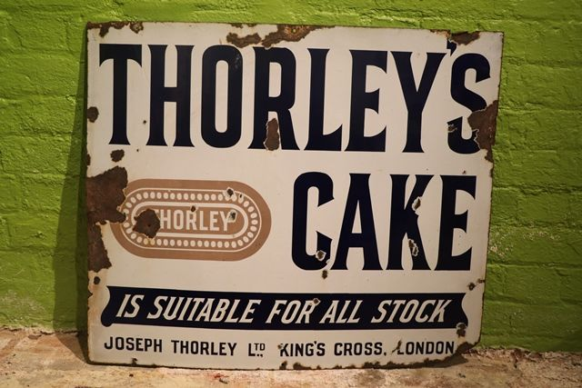 Thorleyand39s Cake Enamel Advertising Sign