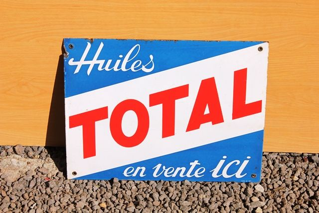 Total Fuels Enamel Advertising Sign