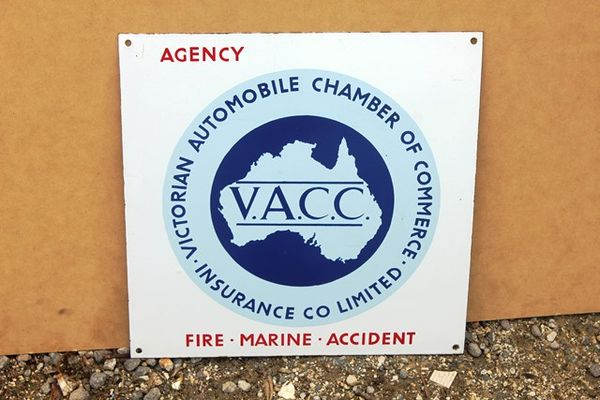 VACC Enamel Sign
