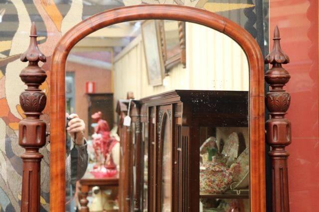 Victorian Mahogany Swing Mirror C1850