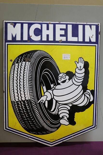 Vintage Michelin Pictorial Enamel Sign