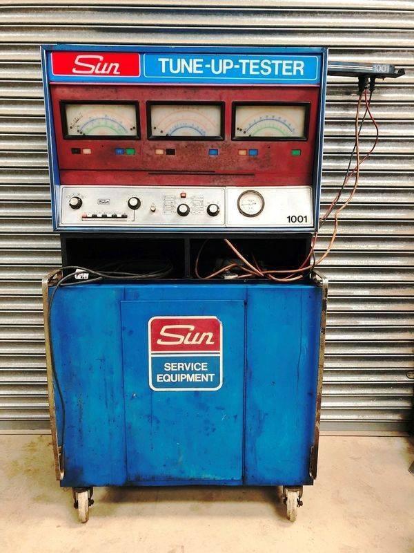 Vintage Sun Tune Up Tester Cabinet