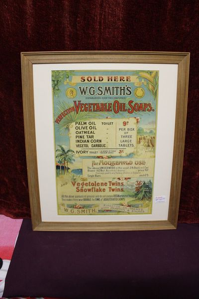WG Smiths Advertising Card