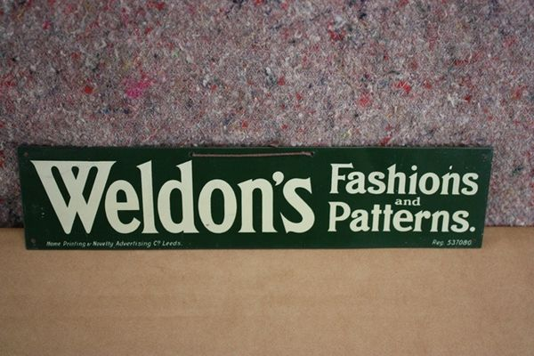 Weldons Fashions Tin Sign