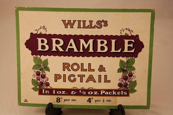 Wills Bramble Cigarette Ad Card