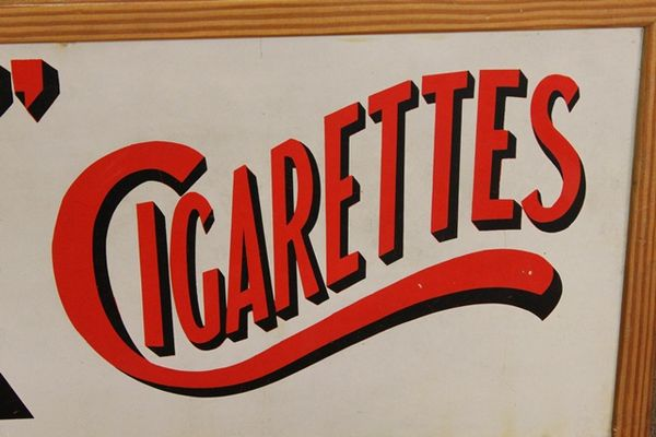 Wills Star Cigarettes Enamel Advertising Sign