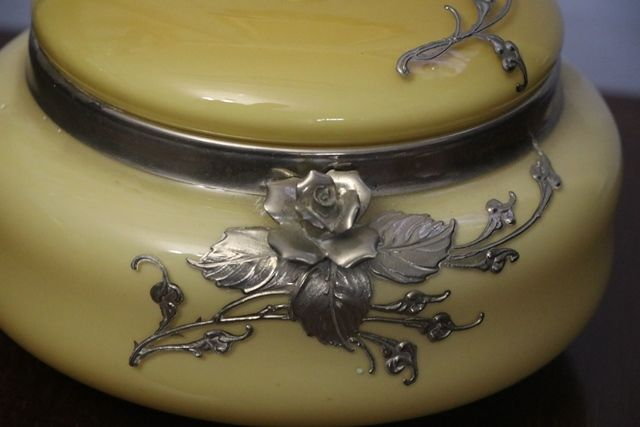 Wonderful Quality Opaque Glass Bowl and Cover