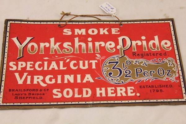 Yorkshire Pride Tobacco Ad Card