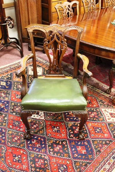 set of 10 chairs including 2 carvers
