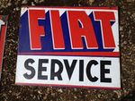 Genuine + Original Fiat  Service Enamel Sign.