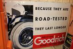 A Very Rare Goodrich Tyres Pictorial Enamel Sign