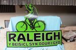 A Very Rare Welsh Raleigh Bicycle Enamel Sign.