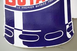 Butagas Double Sided Enamel Advertising Sign