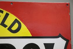 Castrol Motor Oil Enamel Advertising Sign