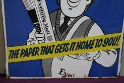 Evening Mail Enamel Advertising Sign