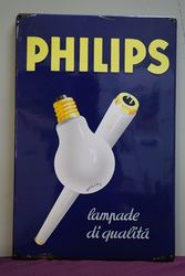 Philips Enamel Advertising Sign