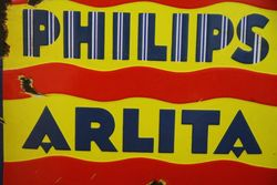 Philips Arlita Enamel Advertising Sign