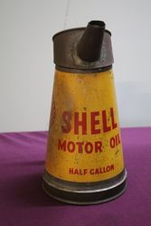 Early Shell Motor Oil Half Gallon Pourer