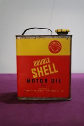 Shell Double Stickman Motor Oil Tin