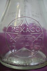 Texaco Pint Bottle With Tin Top