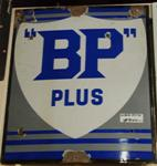 Old Antique Bp Plus Enamel Sign