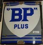 Old Antique BP Plus Enamel Sign ---SA33