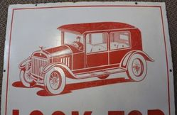 Motoring Car Pictorial Enamel Sign
