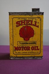 Australian Shell Quart Transmission Motor Oil Tin