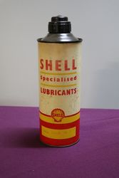 Australian Shell Quart Oil Tin with Plastic Top