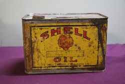 Australian Shell Half Gallon Motor Oil Tin