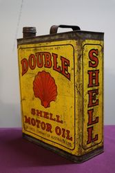 Australian Shell Double One Gallon Motor Oil Tin
