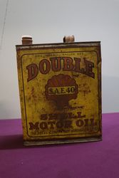 Australian Shell One Gallon SAE40 Motor Oil Tin