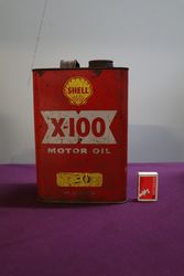 Australian Shell X100 Motor Oil Tin