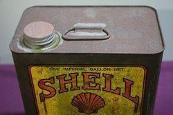 Australian Shell One Gallon Heavy Harvester Oil Tin